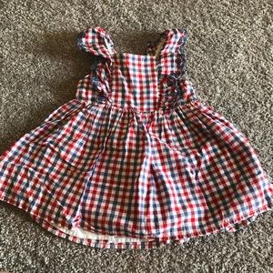 Red White and Blue Gingham Dress